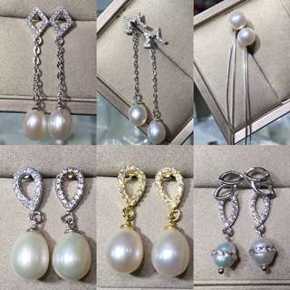 Real pearl 天然珍珠耳環