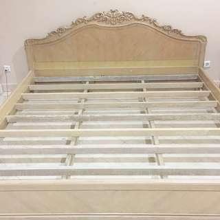 Solid Wood Crafted Bed Frame - Ranjang Kayu