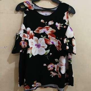 Black Floral Bakuna Blouse