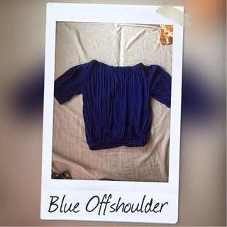 Blue Offshoulder