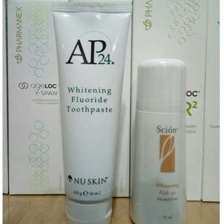 Ap24 pasta gigi whitening fluoride toothpaste 110 g. - Scion whitening rollon alcohol free 75 ml.