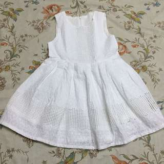 Brandnew Eyelet White Dress for Toddlers/Kids