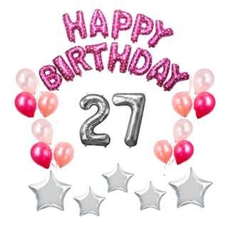 Basic Birthday Party Decors (Pink Bundle) SET2