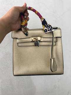Hermes inspired sling bag kelly premium bag
