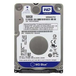 Hard Disk western digital 500gb 2.5inch