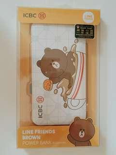 Line Friends x ICBC Brown Powerbank 8000mAh 熊大充電器
