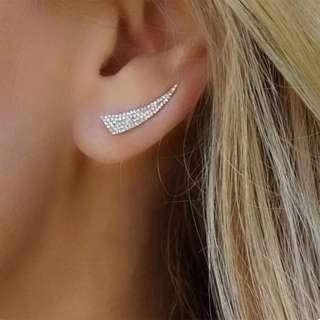 BN  Full Stud Crystal Earrings