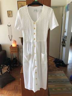 Vintage Noni b size 10 long white dress