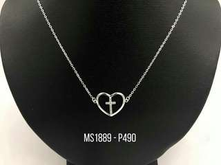 Silver Center Chain Necklace