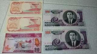 Banknotes 11张外国钞票一起卖 有兴趣快来啊