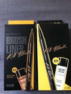 Clio Kill Brush Eyeliner Black