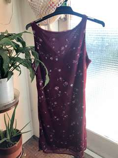 Vintage maroon dress size 8