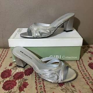 Gibi Formal Silver Heeled Sandals