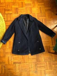 Navy box style coat size 8