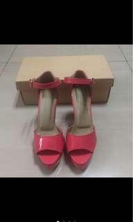 Pink Peeptoe Sandals