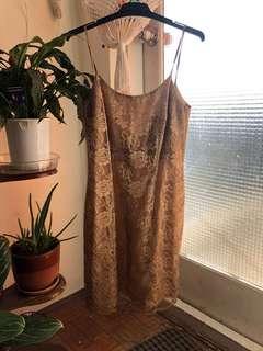 Gold bodycon dress size 8