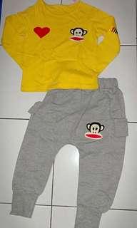 set sweater celana panjang size 3-4T