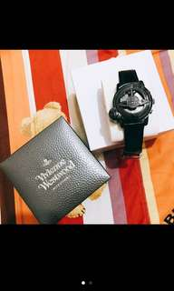 急售再降價✨ 二手 Vivienne Westwood 旋轉手錶 黑 經典款