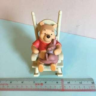 Disney Winnie the Pool Rocking Chair 小熊維尼 小豬 搖搖椅 陶瓷 廸士尼