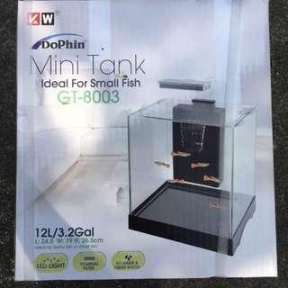 BNIB 12L mini tank GT-8003 with light and filter