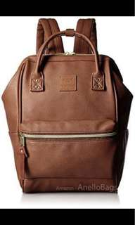 Anello Authentic (mini brown leather backpack)