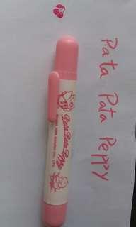絕版Sanrio Pata Pata Peppy(1995年產品)水筆連櫻桃印套裝