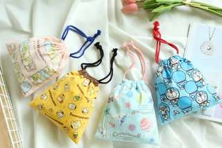 Doraemon cinnamoroll 布甸狗 多啦a夢 角落生物 布袋束繩袋束袋