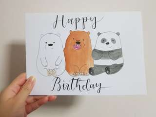 [CUSTOMISE] Webarebears Birthday Card