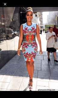 Givenchy Resort 2012 Printed dress worn by Fergie and Lala Anthony