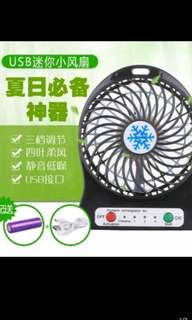 Portable Fan with usb