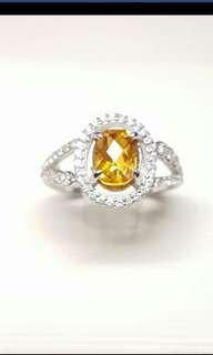 黃水晶戒指