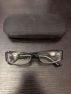 Emporio Armani 黑色粗框眼鏡
