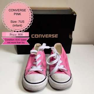PRELOVED Authentic Pink Converse Kids