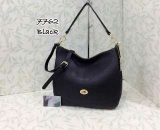 Coach Turnlock Hobo Bag Black Color