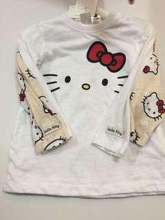 H&M 2x Longsleeve Hello Kitty Tshirt (18-24M)