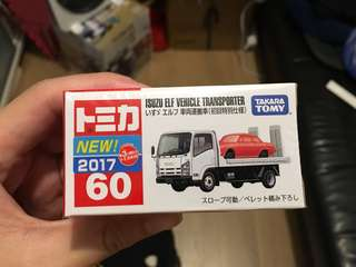 Tomica 60 2017 初回貼 初回限定 isuzu vehicle transporter