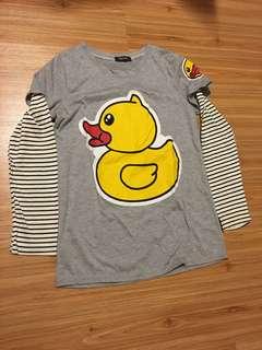 Grey duck shirt