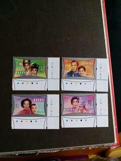 香港郵票 全新著名明星一套