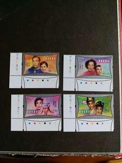 香港郵票 全新著名明星一套  A001
