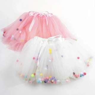 🚚 Instock - Pom Pom Skirt, baby infant toddler girl children cute glad 123456789 lalalala so pretty