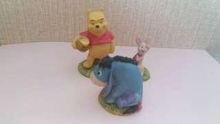 絕版 Hand Made Disney Store Winnie the Pooh 瓷器公仔一套