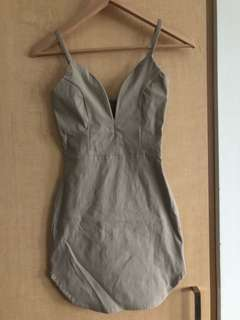 NWOT M Boutique Nude Bodycon Dress