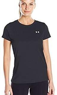 Under Armour Women's Tech T-Shirt (Large, Black)