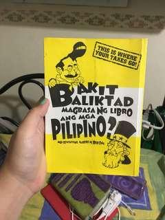 Balit baliktad magbasa ng libro ang mga Pilipino?