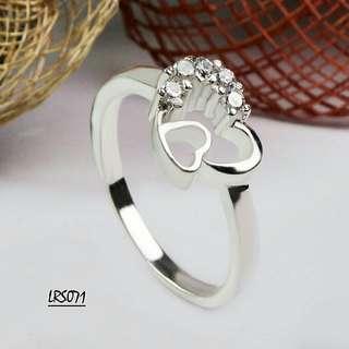 Genuine 925 Italy silver ladies ring