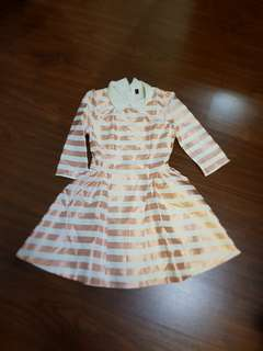 Stripe peach dress