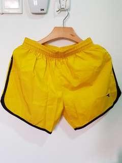 DIADORA Yellow Men Shorts