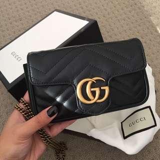 GUCCI Marmont Matelassé Leather Super Mini Bag