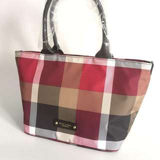 Blue Label by Burberry nylon small tote Black Red 27 - 40 x 24 x 17 cm