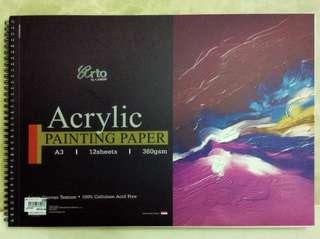 arto a3 acrylic painting paper 🎨